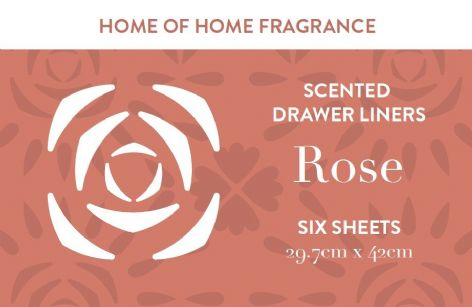 Home of Home Fragrance Scented Drawer Liners  - Silver Gift Tube - Rose